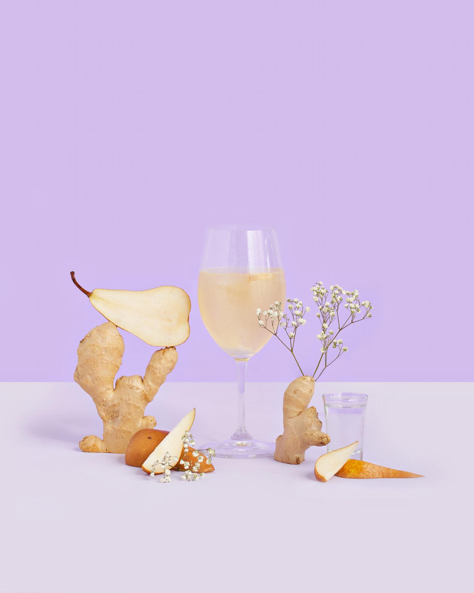 Pear Ginger Sparkler