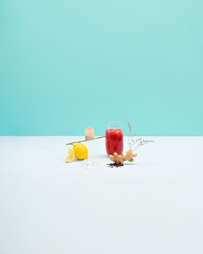 Sparkling Ginger Hibiscus Tea